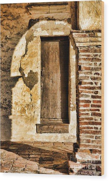 Arched Shadow By Diana Sainz Wood Print