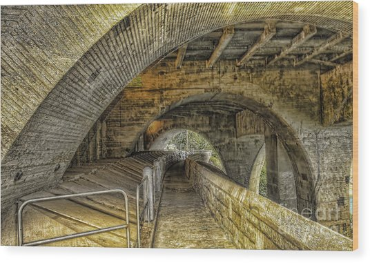 Arched Walkway Wood Print