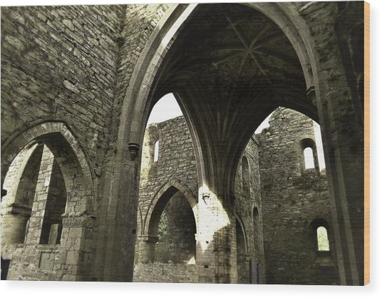 Arches Of Ages - Jerpoint Abbey Wood Print