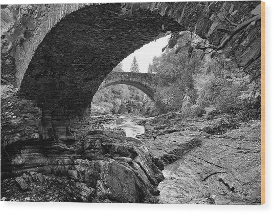 Arches Of Invermoriston Wood Print