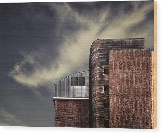 Archi-mix. Wood Print by Harry Verschelden