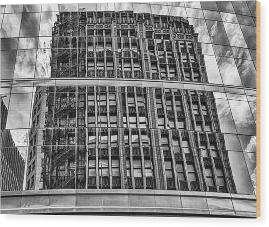 Architectural Reflection 2 Wood Print