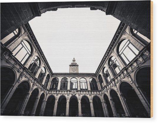 Architecture In Bologna Wood Print by Pedro Nunez