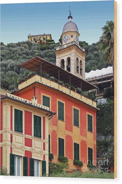 Architecture In Portofino Wood Print