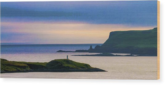 Ardtreck Point Lighthouse Wood Print