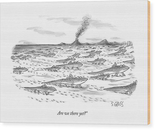 Are We There Yet? Wood Print