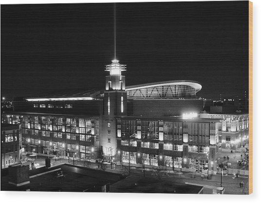 Arena At Night Wood Print