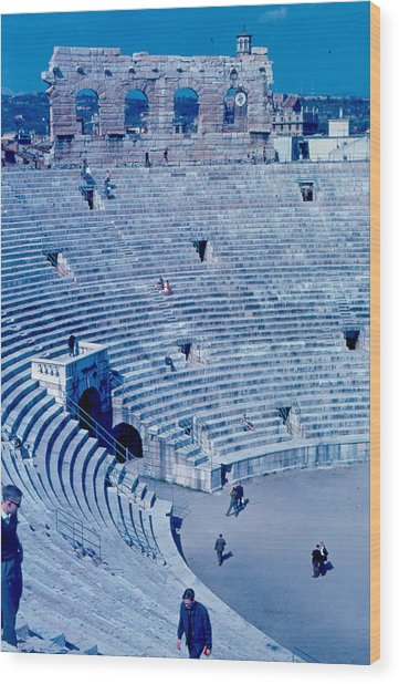 Arena Verona Interior 1962 Wood Print by Cumberland Warden