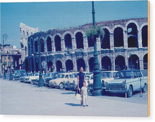 Arena Verona Italy 1962 Wood Print by Cumberland Warden