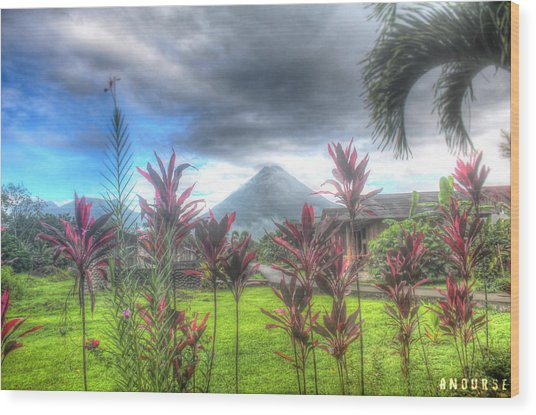 Arenal Volcanoe Wood Print