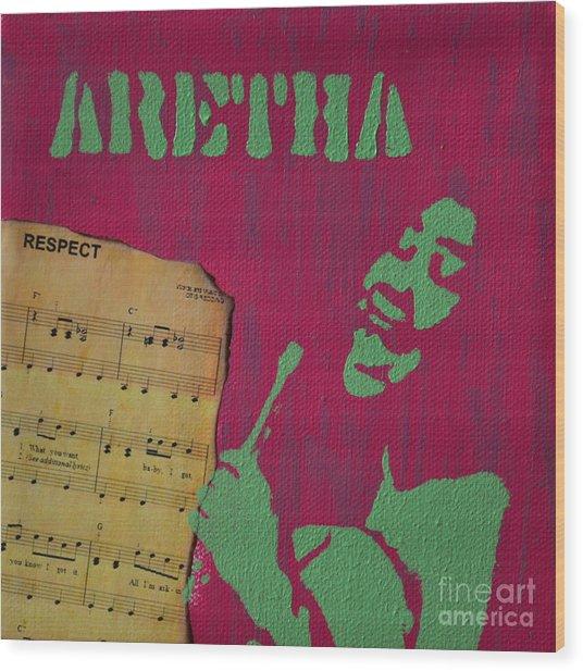 Aretha Wood Print