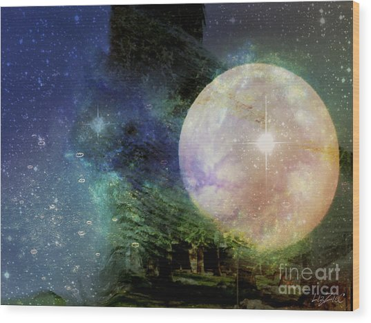 Arianrhod Wood Print by Liz Campbell