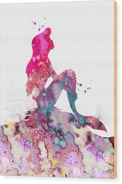 Ariel 2 Wood Print