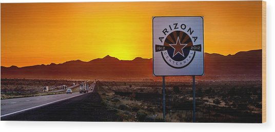 Arizona Centennial Wood Print