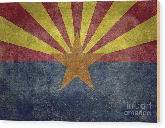 Arizona State Flag Wood Print