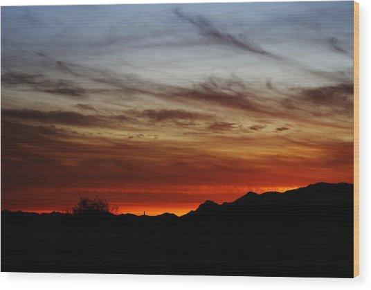 Arizona Sunset Skies Wood Print
