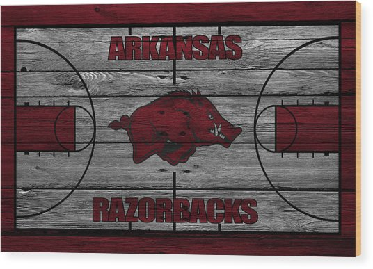 Arkansas Razorbacks Wood Print