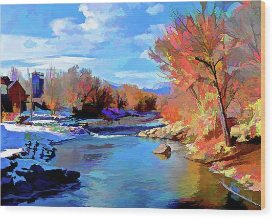Arkansas River In Salida Co Wood Print