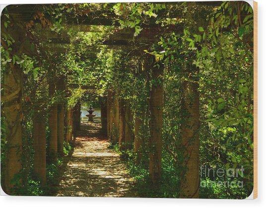 Arlie Italian Pergola Garden Wood Print