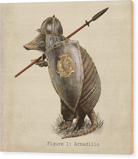 Armadillo Wood Print