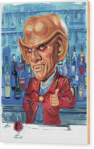 Armin Shimerman As Quark Wood Print by Art