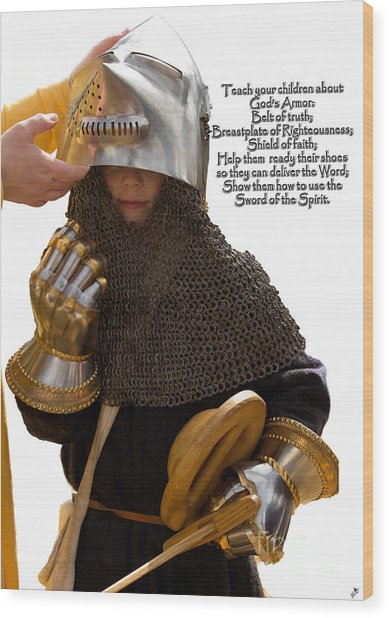 Armor Of God Wood Print