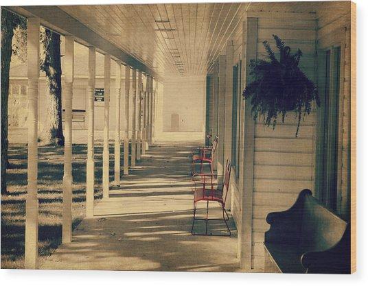Arnold Park's Shops Wood Print