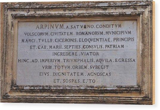 Arpinium Wood Print