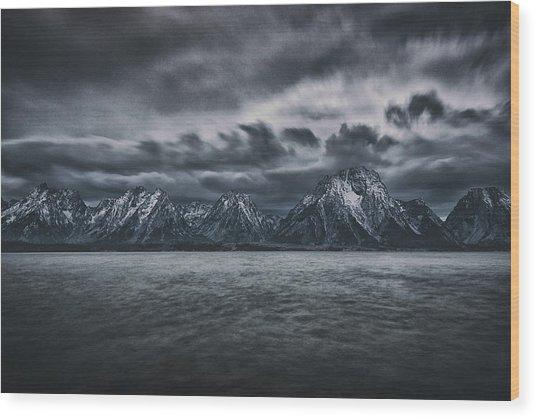 Arriving Storm Wood Print by Robert Fawcett