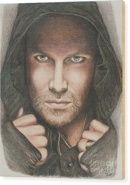 Arrow / Stephen Amell Muted Wood Print
