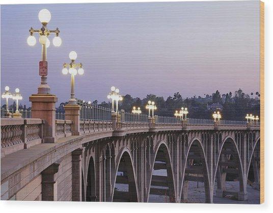 Arroyo Seco Bridge Pasadena Wood Print