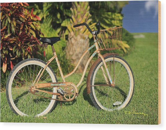 Art Bike Wood Print