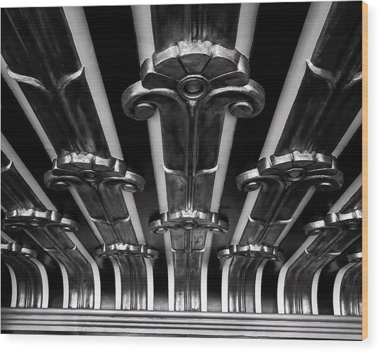 Art Deco At The Henry Fonda Bw Wood Print