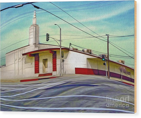 Art Deco Building - Pomona Ca Wood Print by Gregory Dyer