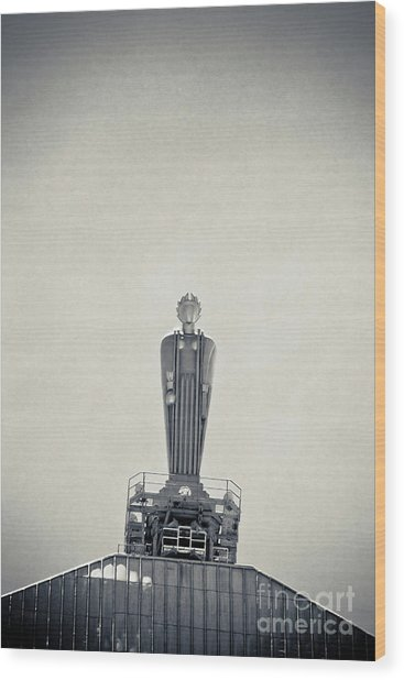 Art Deco Ceres Statue At The Board Of Trade Wood Print