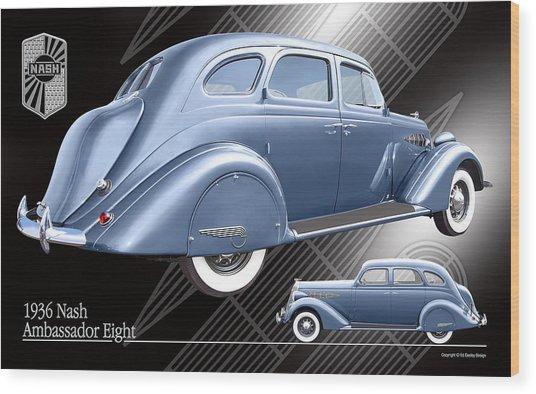 Art Deco Nash Wood Print