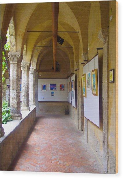 Art Gallery In A Monastery Wood Print