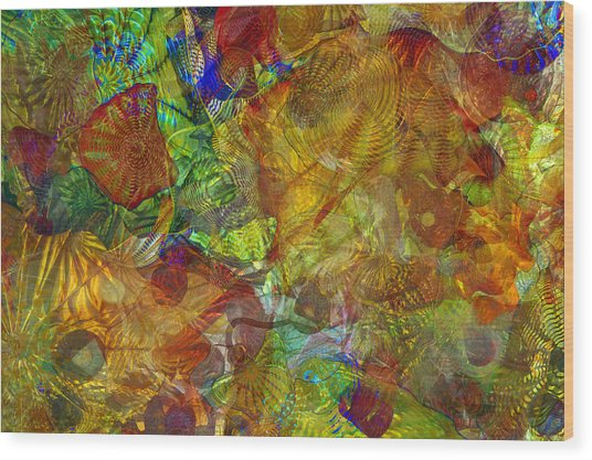 Art Glass Overlay Wood Print