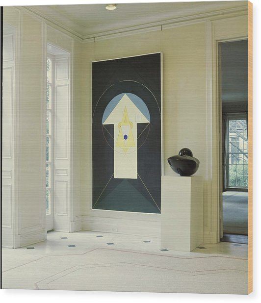 Art In John D. Murchison's Hallway Wood Print by Horst P. Horst