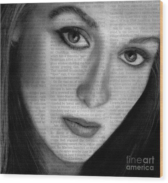 Art In The News 34- Meryl Streep Wood Print