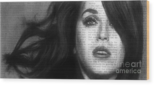 Art In The News 37- Katy Perry Wood Print