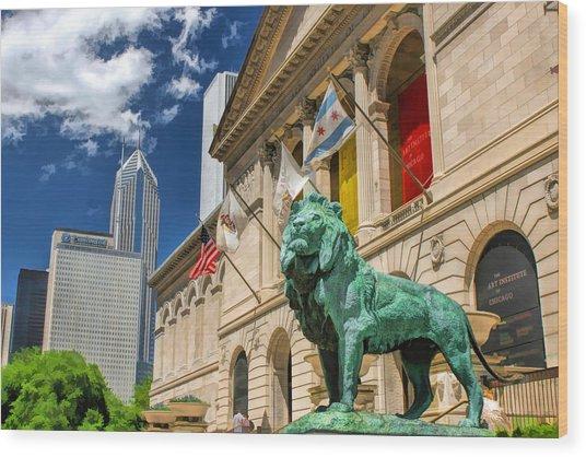 Art Institute In Chicago Wood Print