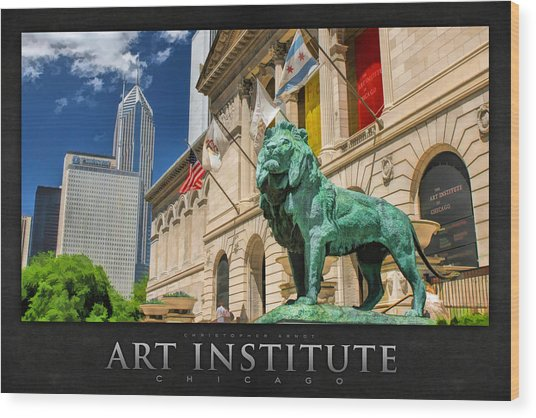 Art Institute In Chicago Poster Wood Print