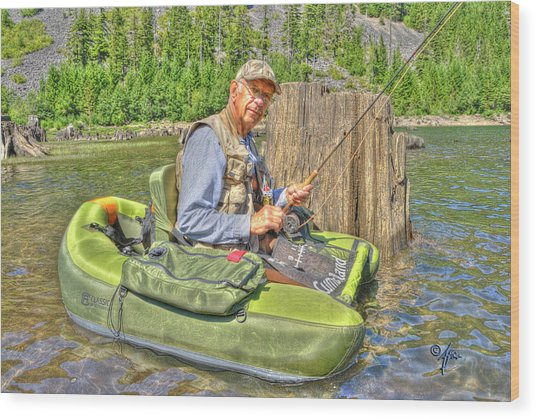 Art Of Fly Fishing Wood Print