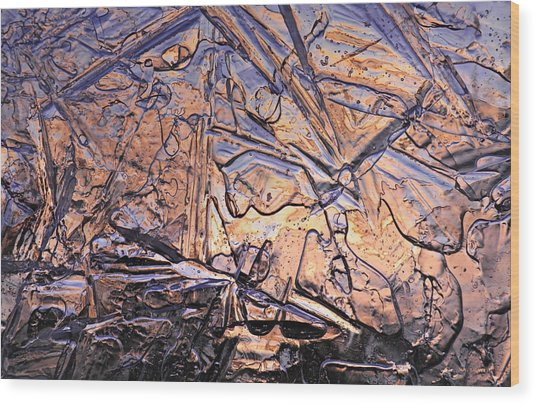 Art Of Ice 2 Wood Print