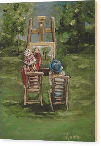 Art Of Teaching Oil Painting Wood Print by Dyanne Parker
