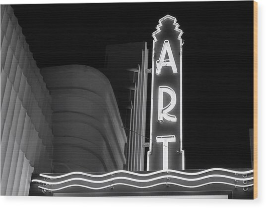 Art Theatre Long Beach Denise Dube Wood Print