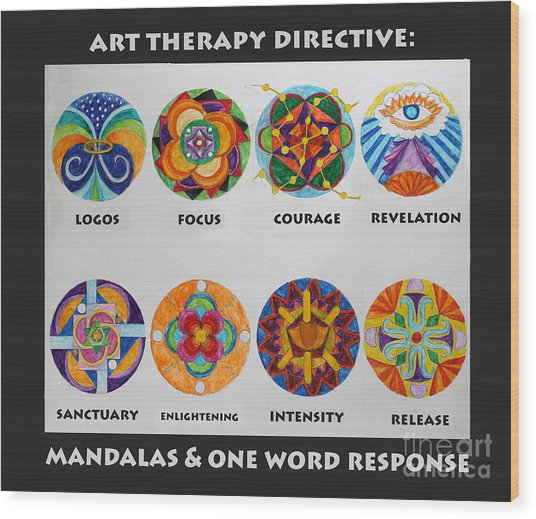 Art Therapy Directive Mandala Wood Print