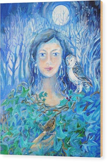 Artemis And The Wren- Wood Print