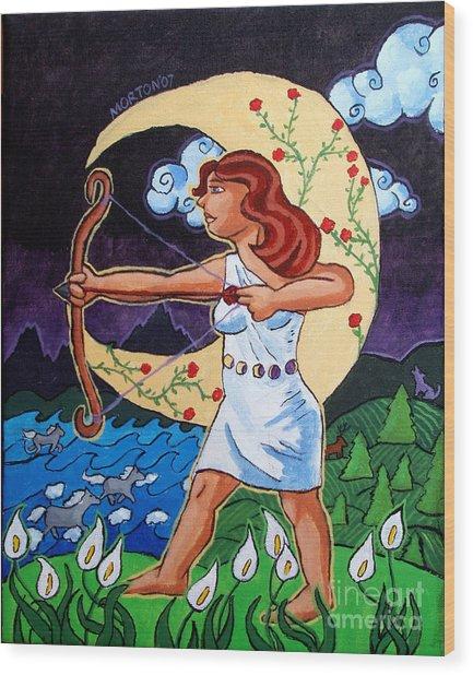 Artemis Wood Print